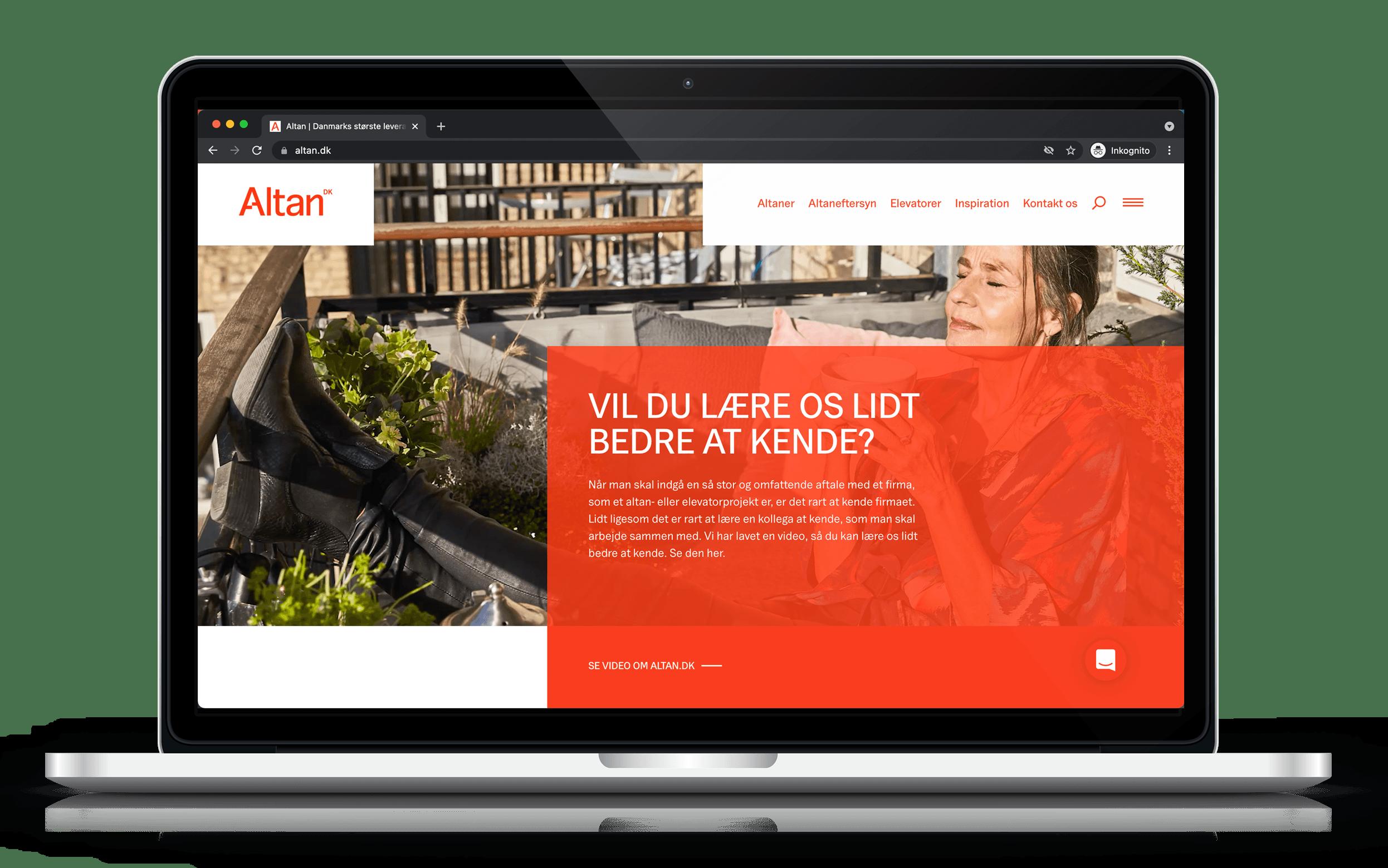 Altan.dk website