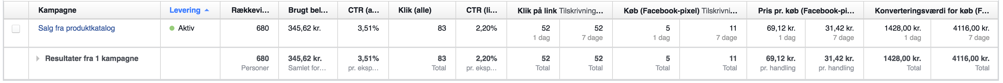 Facebook Rapport Attributionsvindue