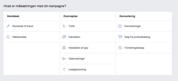 Målsætninger på Facebook